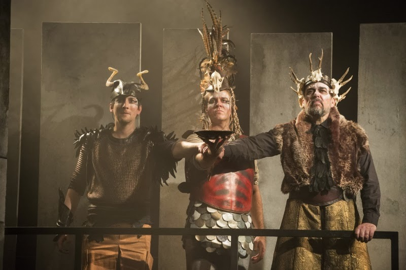 Nicholas Sharratt, Grant Doyle, Roderick Earle in King Priam: ETO © Richard Hubert Smith, www.richardhs.com