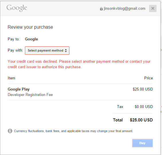 how to delete credit card from google play