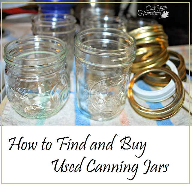 How to find and buy used canning jars - from Oak Hill Homestead