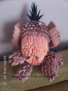 jak zrobić osiołka kłapouchego, origami 3d, modułowe origami, papier, klej, kubuś puchatek, disney, bajka, dla dzieci, rękodzieło, handmade,