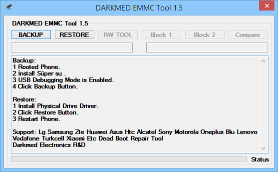 EMMC Write DUMP Tool DARKMED 1 5 ~ DARKMED ELECTRONICS
