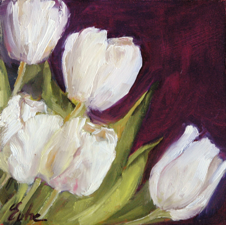 les peintures d 39 evhe couleurs ou valeurs pour des tulipes blanches. Black Bedroom Furniture Sets. Home Design Ideas