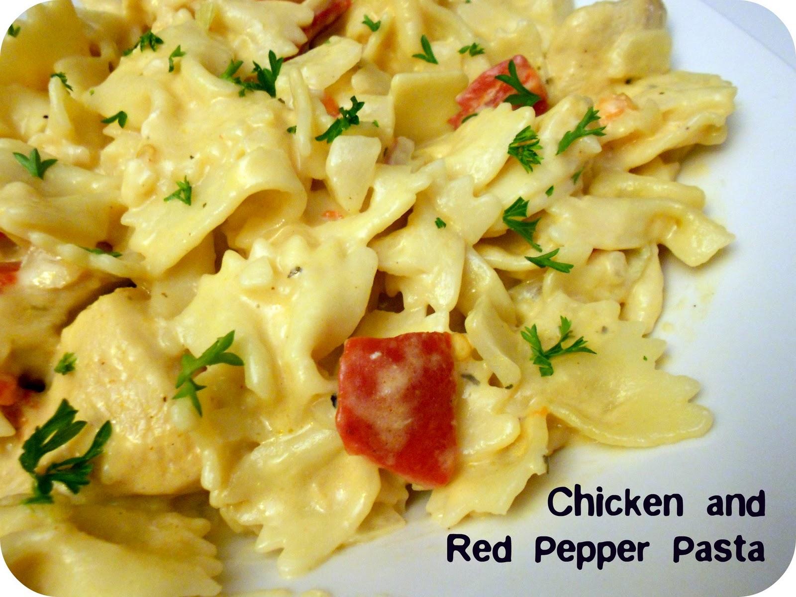 Creamy Chicken With Broccoli And Red Pepper Pasta Recipe ...