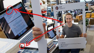 Laptop Mark Zuckerberg cameranya ditutup