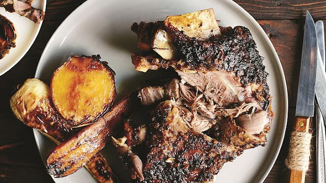 Slow-roasted goat shoulder