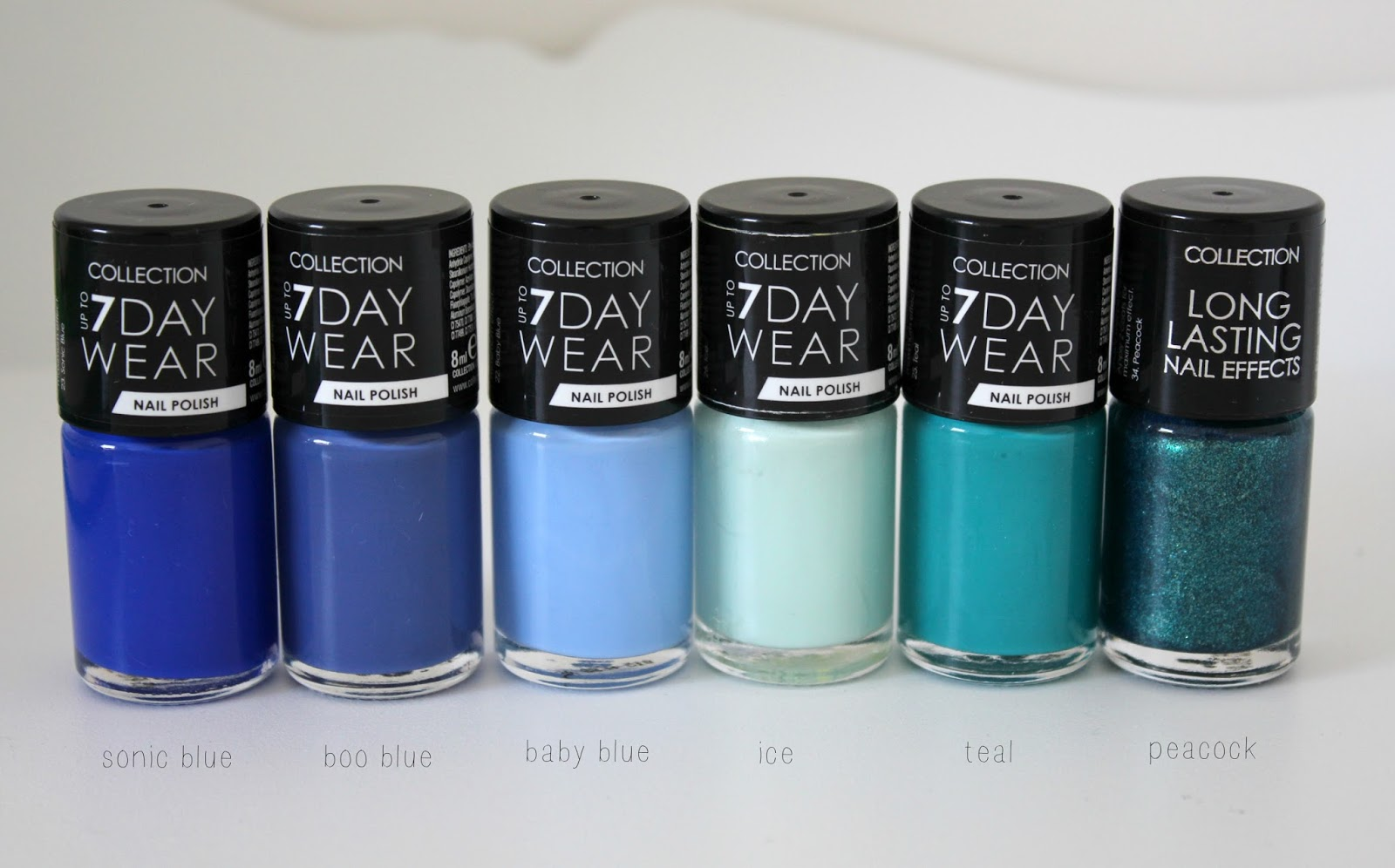 Collection 7 Day Wear Nail Polishes