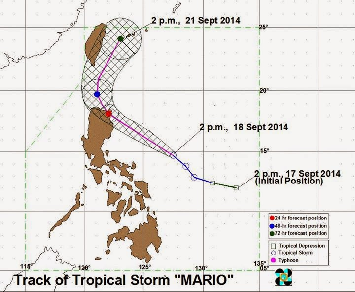 Bagyong Mario move towards Northern LUZON (September 18)