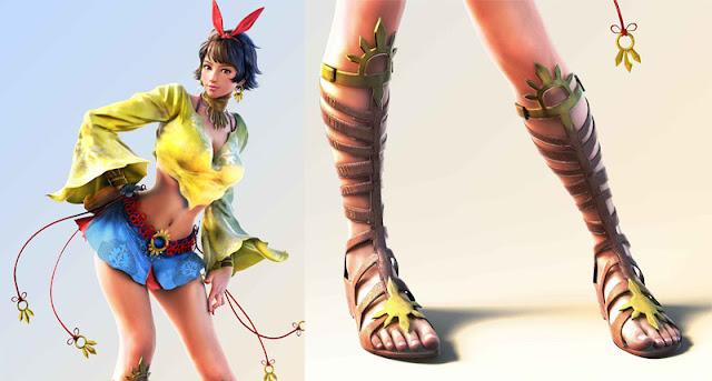 Tekken 7 Josie Rizal gladiator sandals