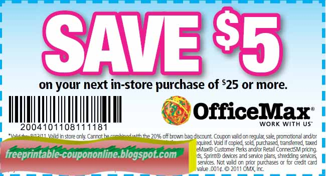 Office max coupons printable may 2018