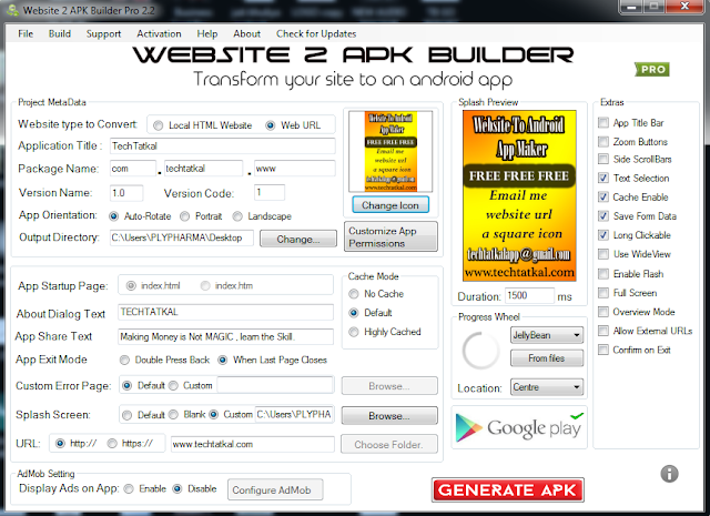 Create Your Android Application Just From Scratch with Website 2 APK Builder