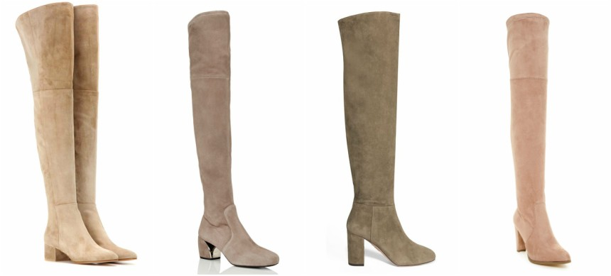 Three of these pairs of over the knee boots are from designers for more than a thousand dollars and one is from Catherine Catherine Malandrino on sale for $70 (reg $150). Can you guess which one is the more affordable pair? Click the links below to see if you are correct!