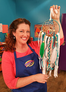 Jenny makes a Dream Catcher on Hands On Crafts for Kids.