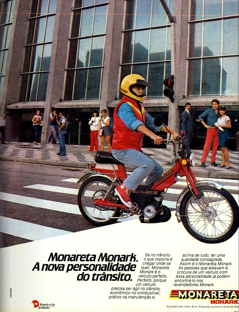 Propaganda antiga da Monark apresentando a Monareta nos anos 80