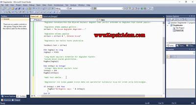 VB.NET String  Long Integer ve Boolean Degişken Tipleri Videolu