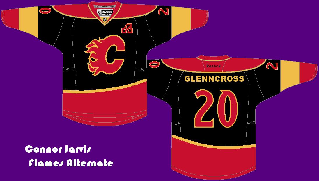 375ac52e54c Design  Connor s concept uses a feature that a Calgary Flames jersey has  never used before  a curved hem stripe. It looks really sharp