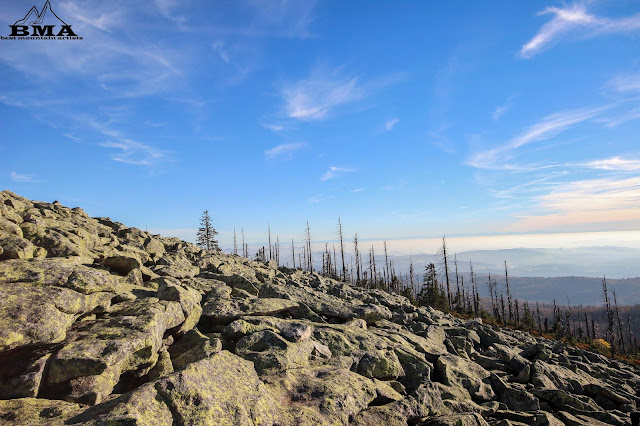 Panorama am Lusen - Blick auf die alpen - outdoor Blog Best mountain artists - Tourenbericht wanderung bayerischer wald