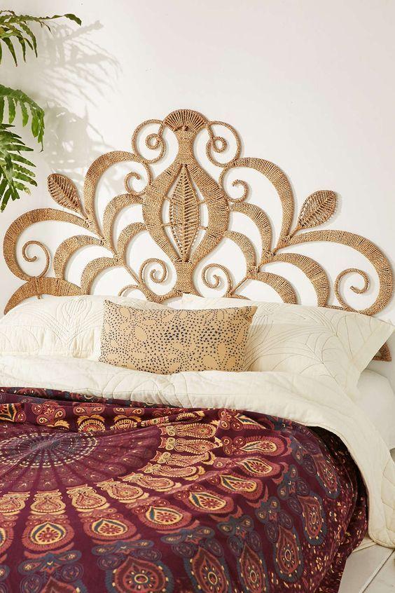 Cabecero de cama natural