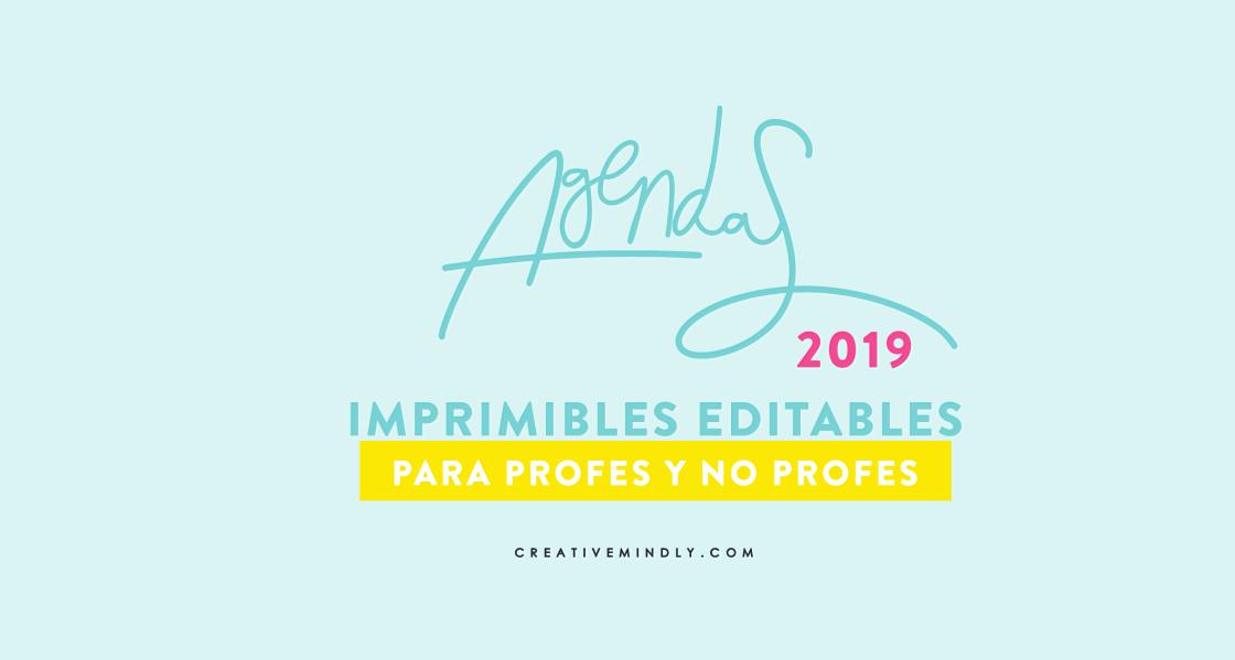 AGENDA 2019 BONITA IMPRIMIBLE PROFESORES