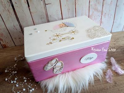 Personalizowane pudełko na Chrzest Święty Majeczki