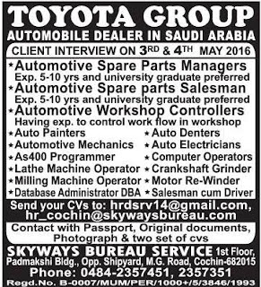 Toyota Saudi arabia jobs