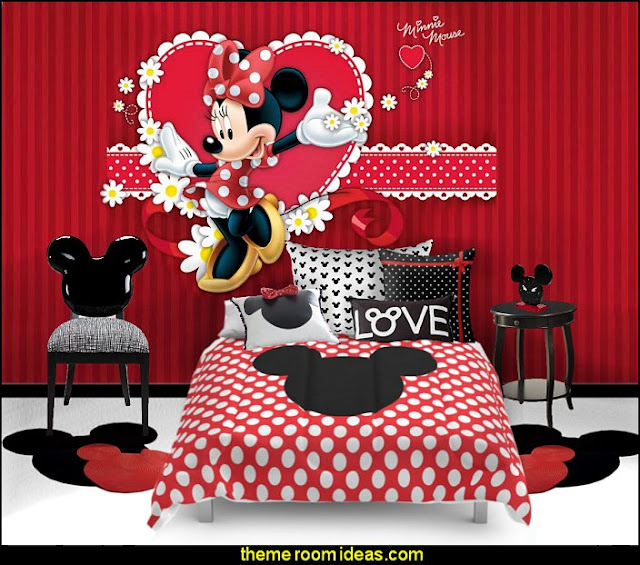 minnie mouse disney bedroom decor  Mickey Mouse bedroom ideas - Minnie Mouse bedroom decorating - Mickey Mouse bedding - Minnie Mouse Bedding - Mickey Mouse wall decals - Mickey Mouse Comforters - Disney bedding - Disney home decor - Mickey & Friends - Mickey Mouse furniture  - Minnie Mouse wall decals - Mickey Mouse wall decal stickers - Mickey Mouse murals