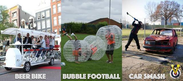 Beer Bike, Bubble Football & Car Smash