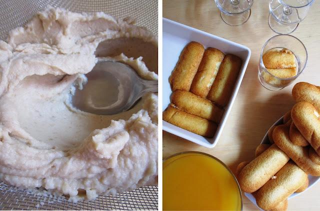 Tiramisù de castañas y Moscatel - Elaboración Paso 2