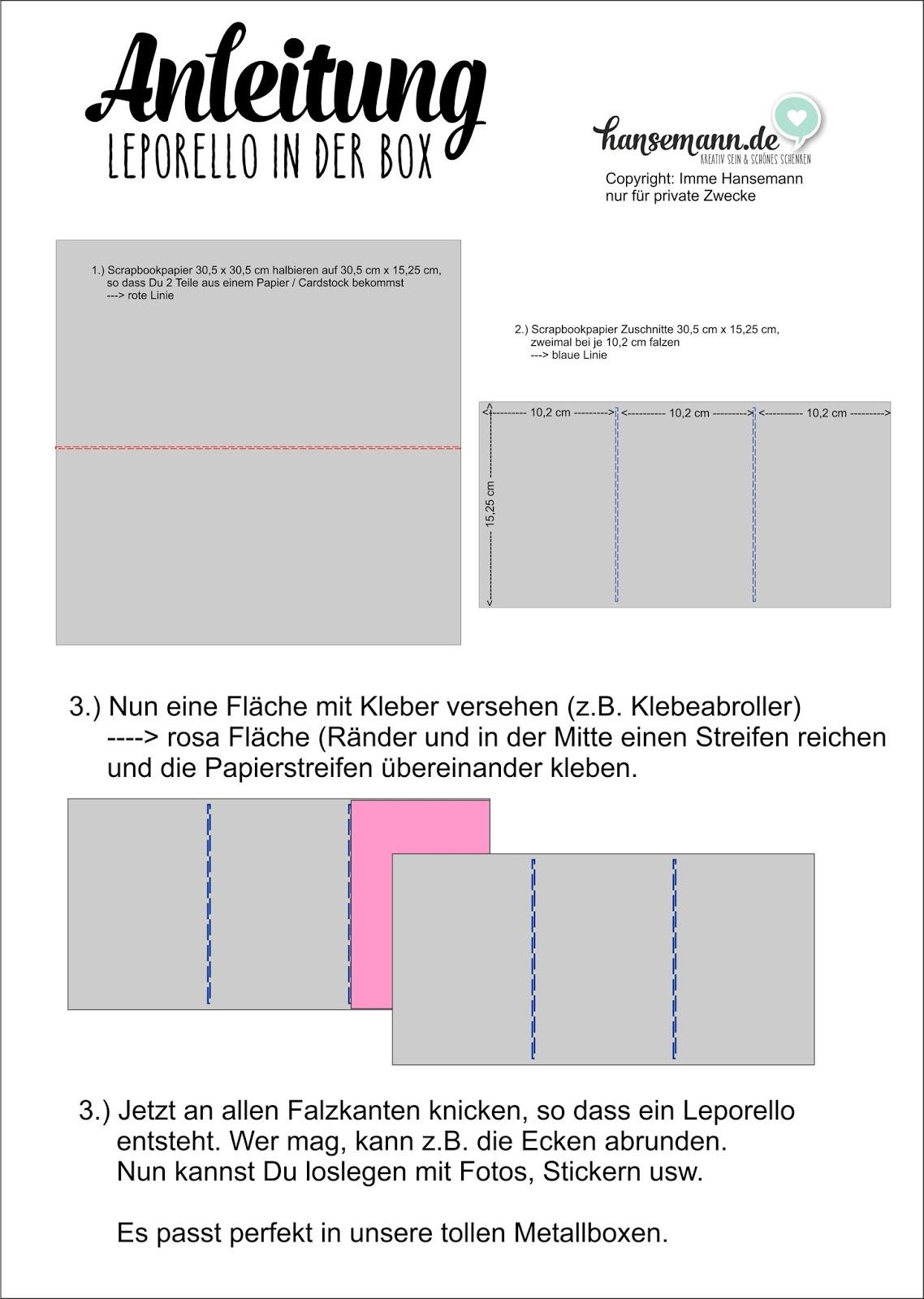Häufig Anleitung - DIY Leporello in der Dose -Teil 1 | made-by-imme.de QW89