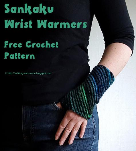 Knitting And So On Sankaku Wrist Warmers In Crochet