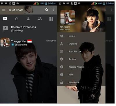 BBM  MOD Ji Chang Wook Apk v3.2.0.6 Clone Terbaru