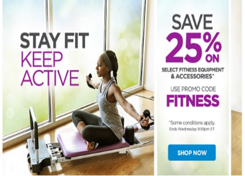 The Shopping Channel Flash Sale 25% Off Fitness Equipment Promo Code