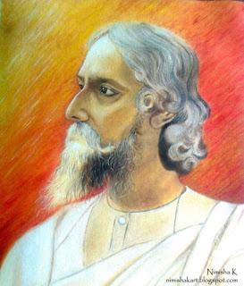 Rabindranath Tagore oil painting by nimisha k