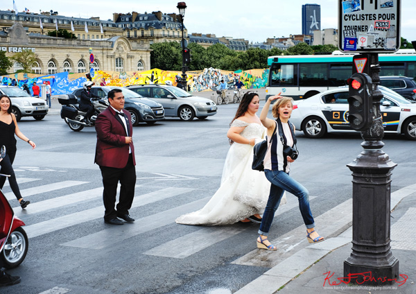 Wedding photography taking place on Pont Alexandre III. If you're going to the Cité.. Shots from Paris on June 26 2017 for Street Fashion Sydney.