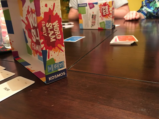 Word Slam Family by Thames and Kosmos Games. Card Game Review by Benjamin Kocher. Photo by Benjamin Kocher