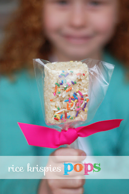 delight This simple treat made from pre-made Rice Krispies treats and rainbow sprinkles are a delightful surprise for any occasion.