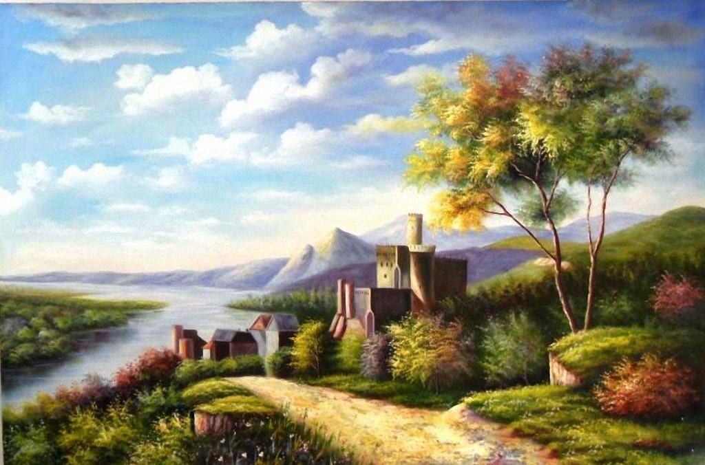 Lukisan Pemandangan Lukisan Pemandangan Alam  Holidays OO