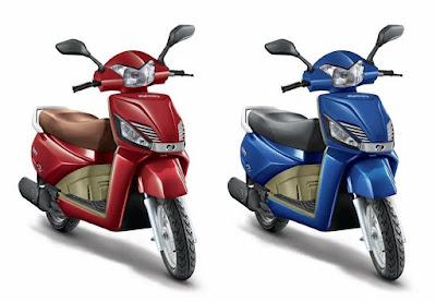 Mahindra Gusto two colour option