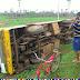 Em Santana do Acaraú, ônibus escolar capota e deixa estudantes feridos