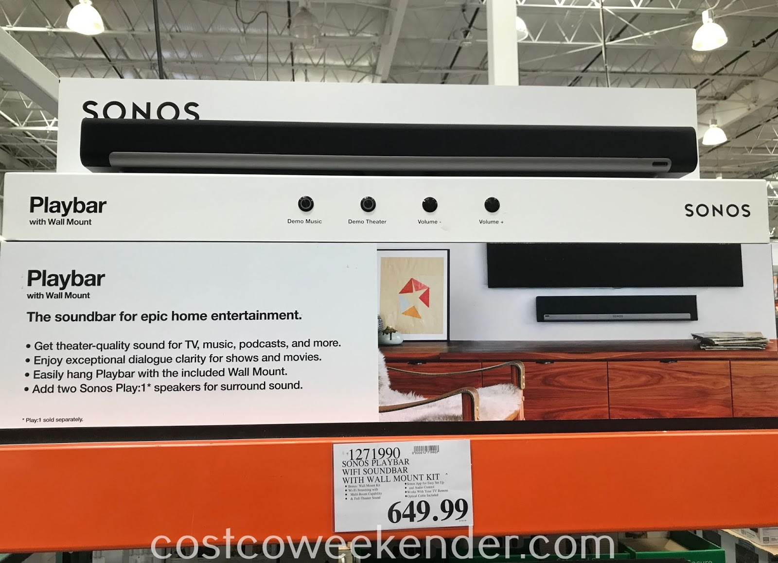 Costco 1271990 - Watching home movies just got better with the Sonos Playbar soundbar