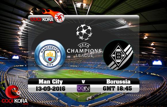 مشاهدة مباراة مانشستر سيتي وبوروسيا مونشنغلادباخ اليوم 13-9-2016 في دوري أبطال أوروبا