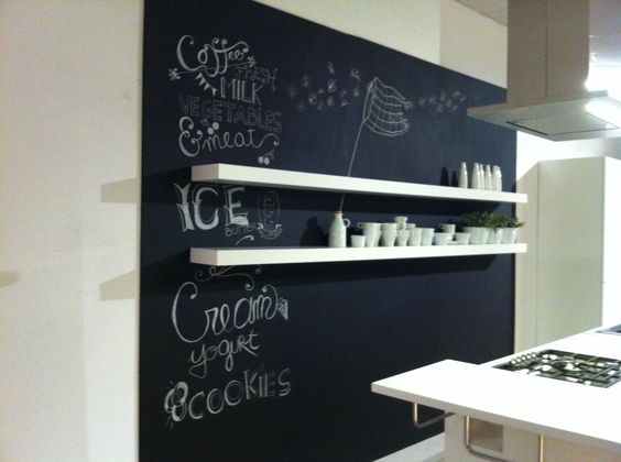 Come decorare lavagna adesiva a muro parete cucina una