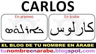 Carlos en Arameo para tatuajes