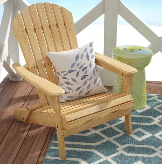 Natural Wood Adirondack Chair