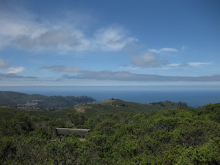 View of the Pacific Ocean from Sweeney Ridge above Pacifica, California