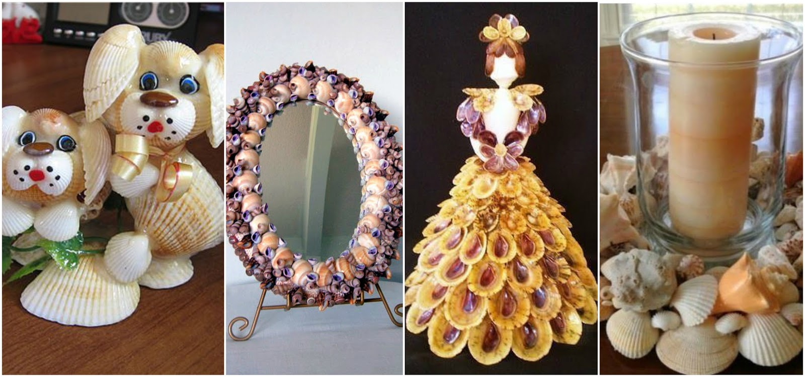 12 espectaculares manualidades decorativas con conchas de - Manualidades con conchas ...