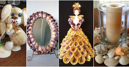 12 Espectaculares manualidades decorativas con conchas de mar