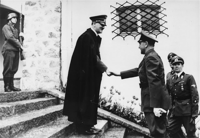 Adolf Hitler greets Croatian strongman Ante Pavelić at the Berghof 9 June 1941 worldwartwo.filminspector.com