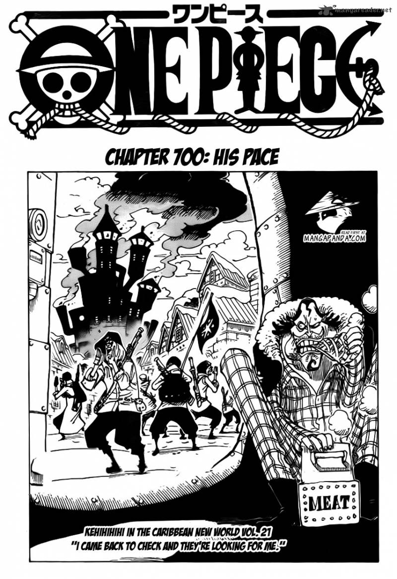 One Piece Ch 700: His Pace