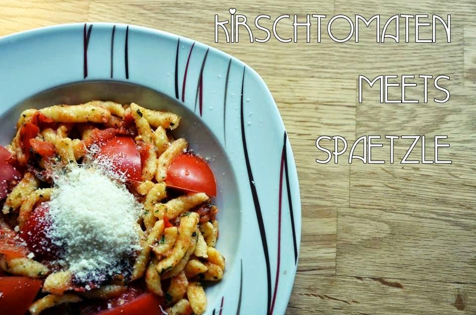 Spätzle mit Kirschtomaten und Parmesan