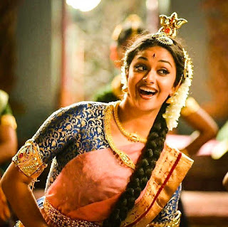 Keerthy Suresh in Saree with Cute Smile in Mahanati